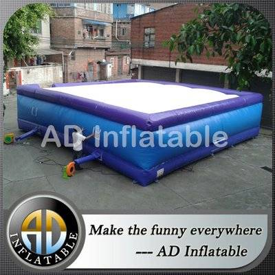 Bike jump air bag, inflatable adventure air cushion for trampoline park