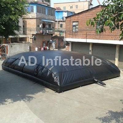 Black custom big air bag air cushion for extreme adventure, xtreme adventure big air cushion