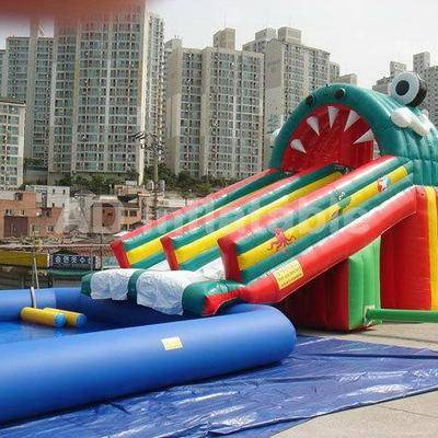 Inflatable aqua park giant water park for adults/large inflatable swimming pool with slide