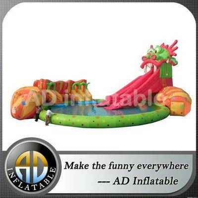 Largest inflatable water slide for amusement water park projects/plastic swimming pool