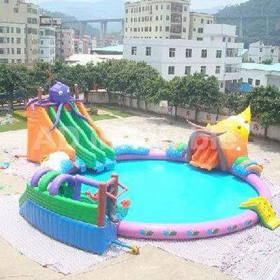 Octopus Inflatable Water Park With Swimming Pool, como swimming pool, indoor water parks