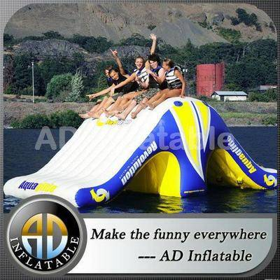 Factory supply giant inflatable floating water slide, kids inflatable water slide manufacturer