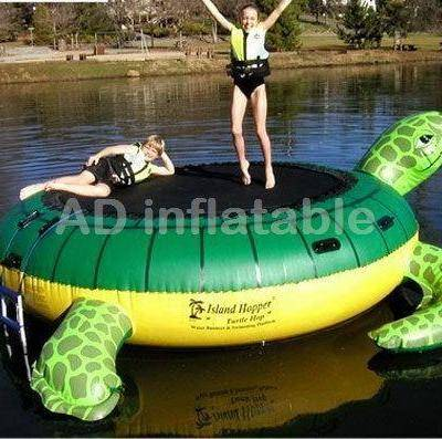 Top quality sea turtle inflatable aqua trampoline, children inflatable water slides for sale