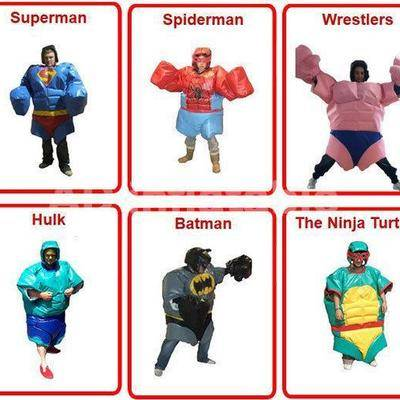Inflatable Super Hero Sumo Suit Wrestling/cheap inflatables for sale from China company