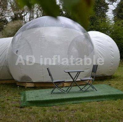 Cheapest crystal bubble tent by bubble tree / large inflatable bubble tent supplier