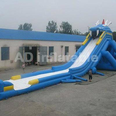 Kids and adults big customized water slide / cheap water jumping castles supplier