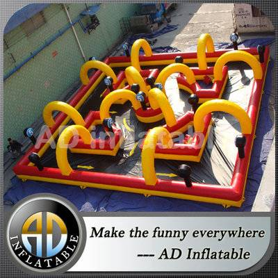 Giant inflatable outdoor go karts race track for sale, China top quality inflatable games for sale