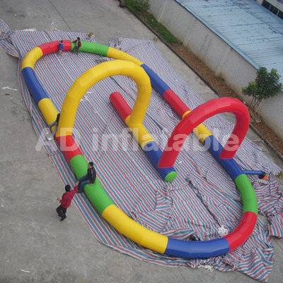 Multi-functional Commercial Inflatable Race Track For Sale, inflatable tumble track for sale