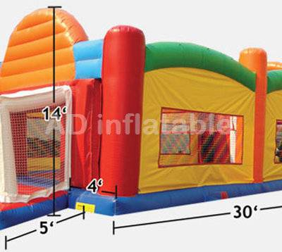 ADS 3 in one inflatable sports twister game and shooting game, China bouncy castles manufacturer