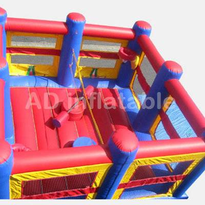 All in 1 sports arena inflatable games, high quality children garden large twister game for sale