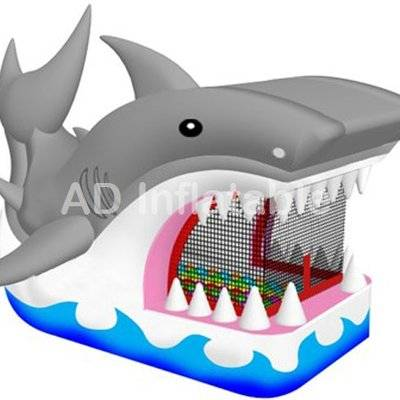 Shark apearance inflatable bounce house for children / inflatable slip and slides