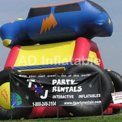 Monster car inflatable commercial moon bounce sale/funny water jump houses for kids