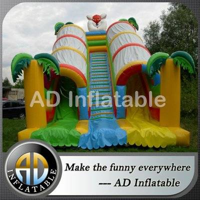 Spring forest inflatable double lane slides/best inflatable bouncy house company