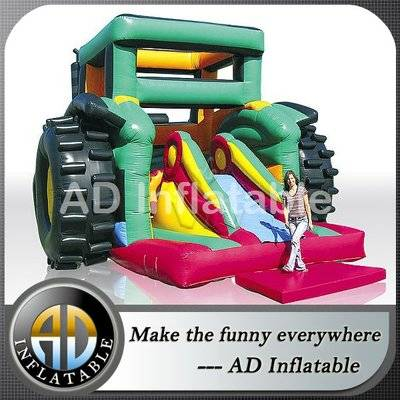 Active Center Inflatable tractor bouncy slide/commercial inflatable bouncers