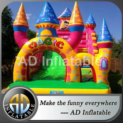 Disney Inflatable castle slide for outdoor events / customized jumping house supplier