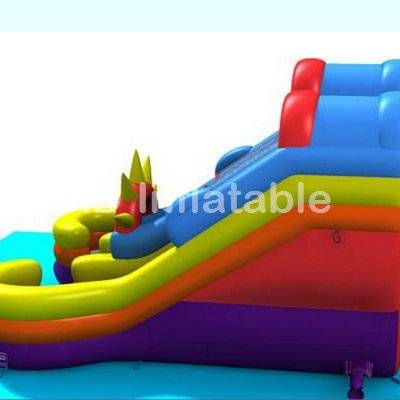Double lanes water slide with pool / inground pool prices / above ground pool prices