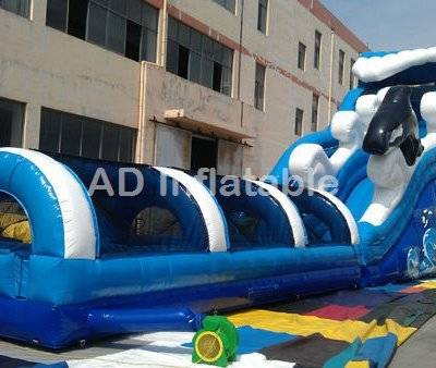 Point Break wave Inflatable Water slip Slides, wholesale water balloon slip and slide