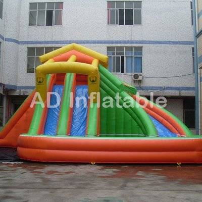 Backyard triple water park water slide, high quality water slide jumpers manufacturer