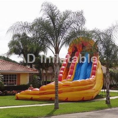 24ft Tall Dual Lane Lava Flow Water Slide/customized inflatable bouncy castles