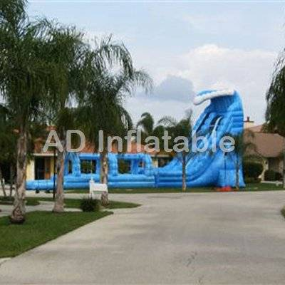 30 foot tall 2 lane Tsunami Water slide/supply inflatable pool with slide for kids or adult company