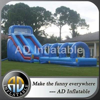 Commercial grade 25 foot tall Hurricane WET  swimming pool slides supplier