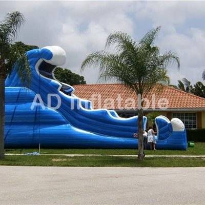 25ft Tall BIG Tidal Wave Water Slide/backyard inflatable water slides for adults