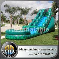 Amazon Falls Water Slide,Amazon themed inflatable slide,20ft waterslides,adventure falls water slide,double drop falls,pool water slide