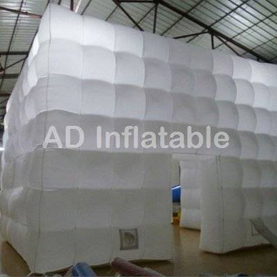 Fashion inflatable tent with led light for exhibition, customized inflatable large event tent