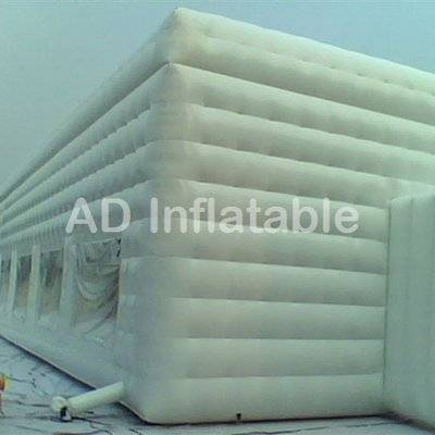 White cube inflatable party tent for sale, wholesale best water slide with bounce house from Asia