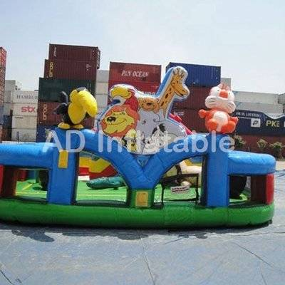 Animal zoo inflatable play Land Obstacle for Toddlers, best adult bouncy castles for sale