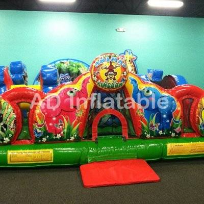 Toddlers and children Animal Kingdom party jumping castle
