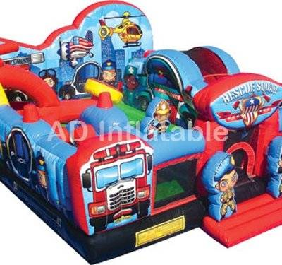 Toddler Learning Park Rescue Heroes Moonwalk, top quality childrens bouncy castles cheap price