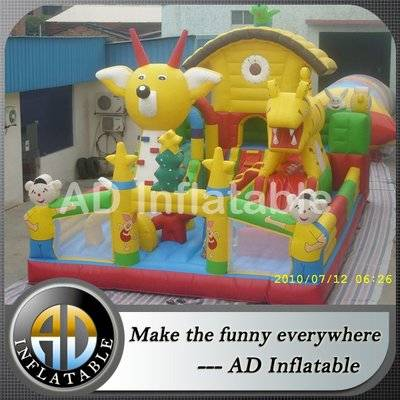 Animal giant inflatable fun city game for kids, best funny small water park bouncy castles
