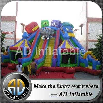 Animal paradise Huge water slide amusement park, inexpensive water bounce houses with slides