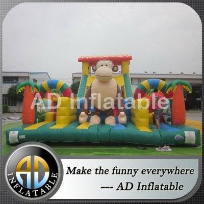 Outdoor Play Obstacle Bounce House structures inflatable guangzhou manufacturer