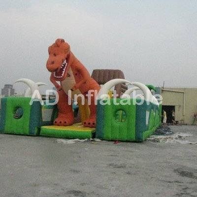 Jurassic Period dinosaurs inflatable park with jungle theme