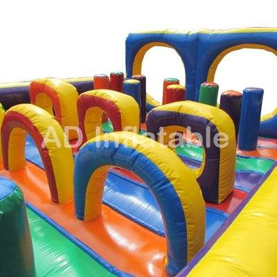 Adult challenge inflatable blow up obstacle course / wholesale bounce houses supplier