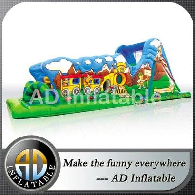 Children attraction Inflatable trampoline adventure tunnel