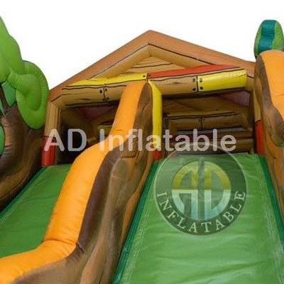 Garden Inflatable Trampolines jumping castle obstacle with tree