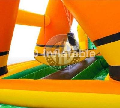Inflatable trampoline Gladiator jumping obstacle course games