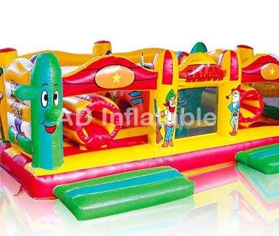 Active Center Western MINI inflatable combo, customized hard plastic pools or castle for kids