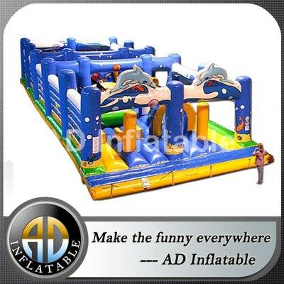 Under the Sea Inflatable trampoline obstacle, kids inflatable swimming pools wholesale price