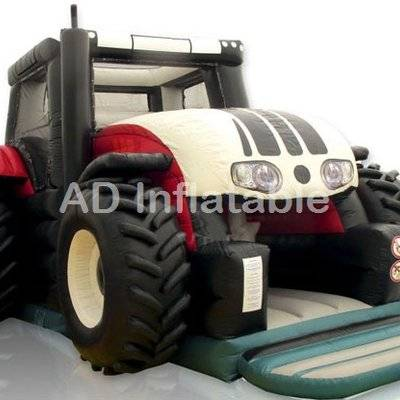 New Inflatable trampoline Tractor bouncer obstacle course game