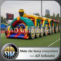 Train Inflatable attractions,Challenge Air attraction,Blown attractions manufacturer,inflatable bounce houses,kids inflatable bouncer