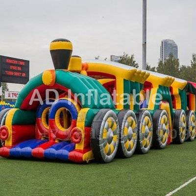 Longest train Challenge Inflatable attractions / high quality inflatable bounce houses price