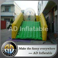 Inflatable zorb ball slide,Inflatable zorb ramp,Long zorb ball ramp,giant hamster ball for humans,giant blow up hamster ball