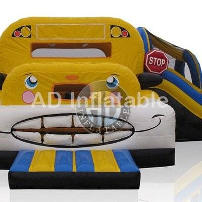 Inflatable trampoline school buses giant balloon