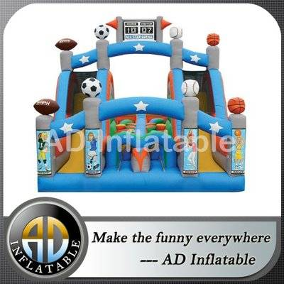 CHALLENGE INFLATABLE OBSTACLE COURSE 1 PIECE MINI TURBO RUSH ALL STAR
