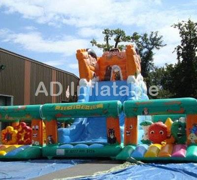 Active play center Inflatable Combo Bouncer With Slide
