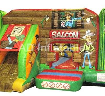 Western Bounce with slide combo mini bouncer for children